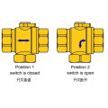 Válvula de esfera elétrica Cr202 2 fios