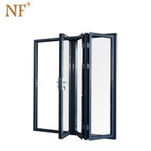 Aluminum sliding folding glass door for bathroom