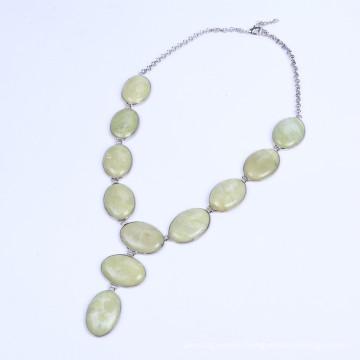 Big Stone Bead Landing Necklace