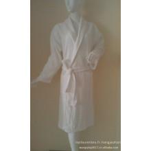 peignoir gaufré coton / polyester unisexe pour hôtel