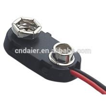 DCK2 I tipo clip plástico de la batería con cables de 150 mm 9v