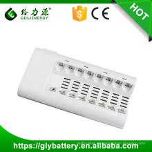 GLE-808 8 ranuras llevó el cargador de batería AA para la batería recargable de AA / AAA NI-MH / NI-CD