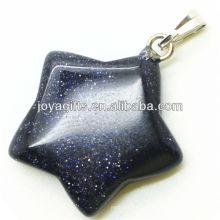 Semi precioso ouro azul pedra pingente de estrela com alta qualidade
