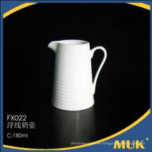 Nuevo arrivals diseño lineal barato de cerámica de leche olla