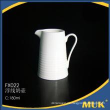 new arrivals linear design cheap ceramic milk pot