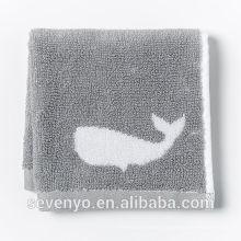 common jacquard fish grey Face Towel wash cloth Soft FT -034