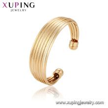52136 Xuping China brazalete de lujo plateado oro de la manera del diseño único al por mayor para las mujeres