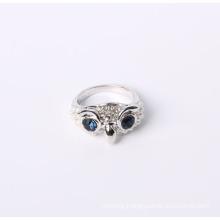 Owl Design Fashion Jewelry Ring with Rhinestone