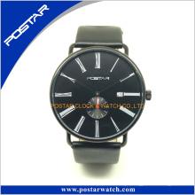 Swatchful top vender fábrica vender direto popular relógio de quartzo com pulseira de couro genuíno