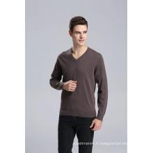 Yak Wool V Neck Pull à manches longues Pull / Vêtement / Vêtements / Tricots