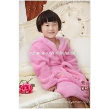 Stocked Chepest polyester coral fleece bathrobe for Girls Age Group