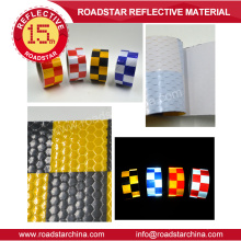 Honey comb adhesive reflective tape with printing checkerboard