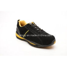 Suede Upper Rubber Sole Cement Safety Shoes (LZ5002)