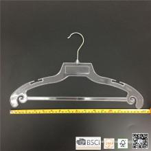 Fábrica del plástico de simple ropa perchas superior