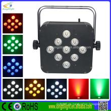 Batterie u. Drahtloses DMX RGB LED dünnes Par helles Hochzeitsdekoration RGBW dmx führte Par
