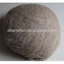 Fabrik Lagerbestand enthaaren inneren mongolischen braunen Farbe Kaschmir-Faser