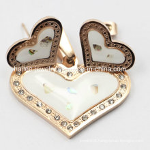 Fashion Heart Necklace Stainless Steel Jewelry Set for Girl