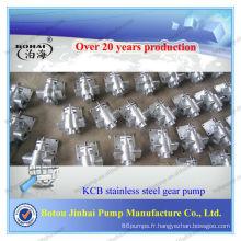 Pompe à huile hydraulique à engrenages KCB-300 en acier inoxydable 304