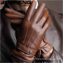 Mens Warm Winter Leather Gloves of Work/Motorcycle Riding/Cycling