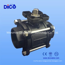 Ts Thread/Butt-Weld/Socket-Weld Wcb 3 Pieces Ball Valve with Mounting Pad