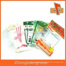 retaining freshness custom plastic nylon bag for snack packaging
