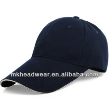 Basic style 2014 promotional blank summer cap with white sandwich