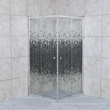 2021 Print Glass Square Shower Enclosure with Shower Tray