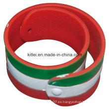 Customed Silicona barato regalo partido de moda PVC Foodball pulsera de plástico