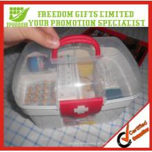 Caixas de kit de primeiros socorros de plástico portáteis para uso doméstico