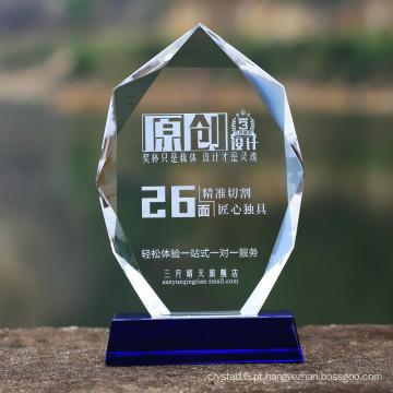 Placa de Prêmio de Troféu de Vidro da Medalha de Vidro Cristal