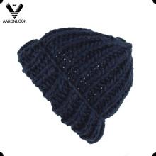 De moda de invierno grueso ganchillo hecho punto de sombrero