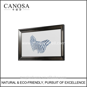 CANOSA Blue shell zebra Wall Picture with metal frame