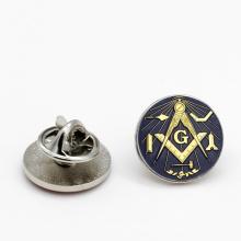 Masonic Round Forget Me Not Custom Enamel Masons Freemason Lapel Pin