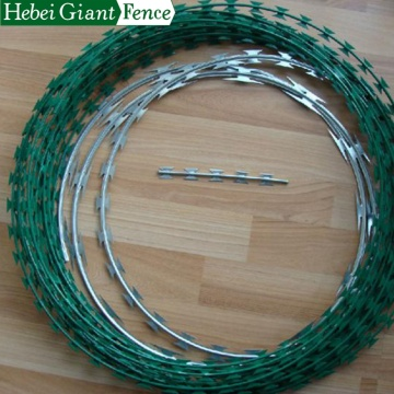 Galvanized Razor Barbed wire for Security Fence