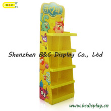 Hot Selling with Cheapest Price Cardboard Floor Display Stand with SGS (B&C-A091)