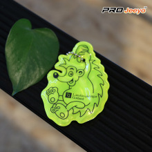 Fluo Yellow Decorative Hedgehog Keychain