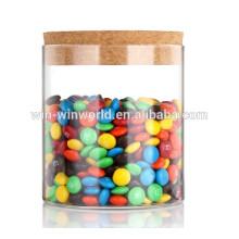 Contenedor de cristal transparente del caramelo de la tabla a prueba de humedad con el golpecito