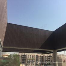 Natürliche Art-Außenholz-Wandplatten Wpc-Wand-Abstellgleis