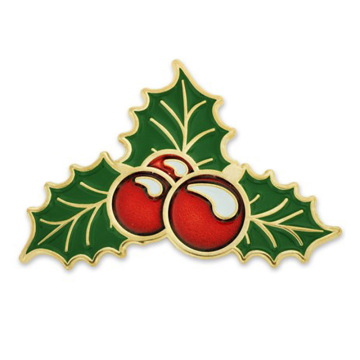 Custom Metal Holly Berry Pin julklapp