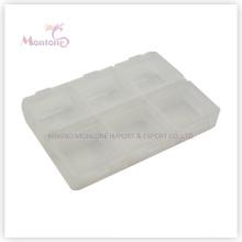 6 Grids Pill Box, Plastic Pill Box, White Pill Box