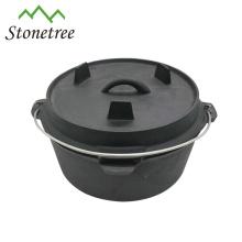 Hot sale dutch oven, cast iron pot, outdoor camping cookware