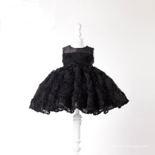 Black Lace Little Girl Gowns