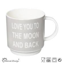 Grey Color with English Words Stable Coffee Mug