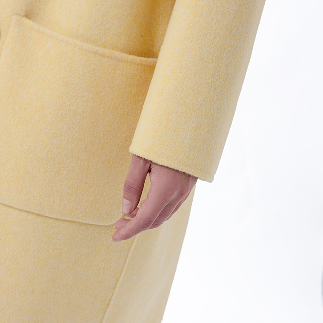 New yellow cashmere coat sleeves