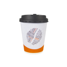 Food grade thick single wall kraft paper cup for hot ripple wall coffee cup