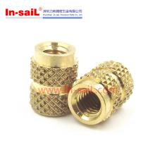 Inmold-Tek Round Head Brass Knurls Insert Nuts