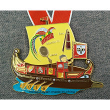 Custom Die Casting Esmalte Metal medalha com cordão