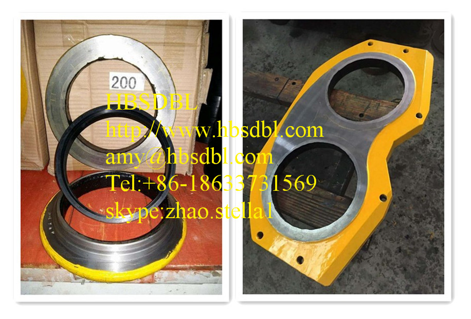 concrete pump plate and ring