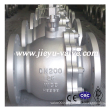 DIN Floating Carbon Steel /Wcb Flange Ball Valve