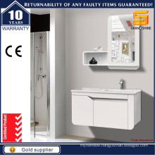High Gloss White Painted Bath Vanities for Hotel Usage